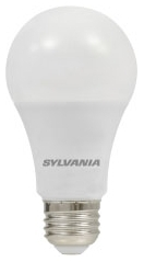 LED9A19DIMO827UB 74687 SYLVANIA LED A19, 9W, DIMMABLE, 80CRI, 800 LUMEN, 2700K, 15000 LIFE 6/CASE