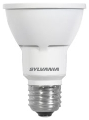 LED8PAR20/HD/DIM/930/NFL25 78364 SYLVANIA LED PAR 20, 8W, DIMMABLE, 91CRI, 550 LUMEN, 3000K, 25000 LIFE