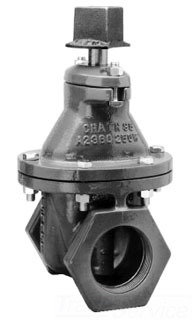 MU-CO A2360-08 2 SCREWED GATE VALVE OPEN LEFT WITH SQ NUT 020A236008LN