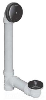 WATCO 601-LT-PVC-BN BRUSHED NICKEL LIFT AND TURN TUB DRAIN HALF KIT