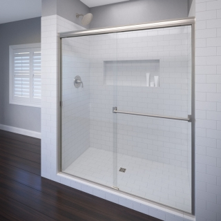 BSE 3500-44S 40-44X65-1/2 OBSCURE GLASS AND CHROME TRIM SHOWER DOOR FOR 48ACS