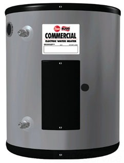 EGSP-6 RHEEM POINT-OF-USE COMMERICAL ELECTRIC WATER HEATER. 3 YR WARRANTY, R-FOAM INSULATION, 6 GALLON, 2KW STANDARD WATTAGE, 6KW 120/60/1