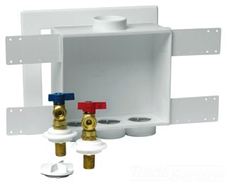 "38530 OATEY QUADRO WMOB 2"" DOUBLE OUTLET, 1/4 TURN VALVES, MIP OR COPPER"