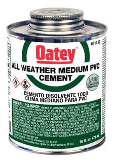 31132 OATEY ALL WEATHER PVC GLUE PTS