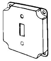 EGS 8361 4-IN RAISED SQUARE TOGGLE SWITCH COVER