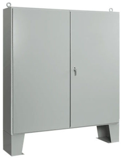 HOFFMN A604812LP 60.06 X 48.06 X 12.06 2-DOOR FLOOR-MOUNTING TYPE12 ENCLOSURE STEEL/PAINT