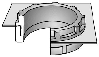 OZ-G ABB-250 2-1/2 INCH INSULATED BUSHING FOR THREADED RIGID CONDUIT AND IMC