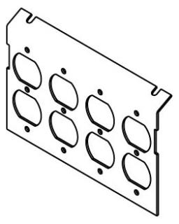 Raised Floor Box Power Plate