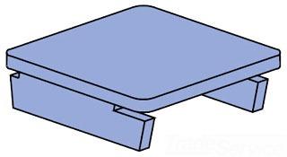 UNISTRT P1180HG END CAP, USE WITH P1100