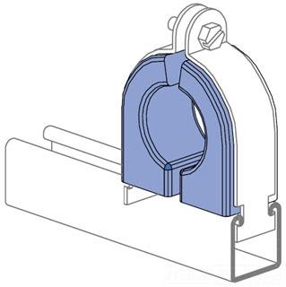 UNISTRT P1793CEV PORCELAIN CABLE CLAMPS