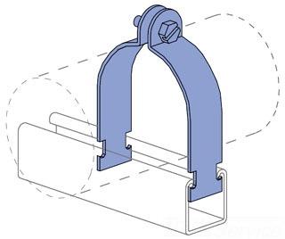 UNISTRT P1124HG 6-INCH RIGID STEEL CONDUIT CLAMP HOT DIP GALVANIZED