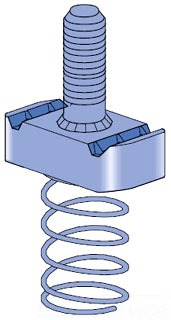 UNISTRT P2380-4EG 3/8-16 STUD NUTS 1-5/8-IN CHANNEL ELECTRO-GALVANIZED