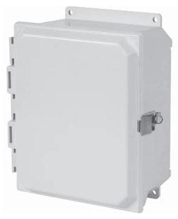 HAM-MFG PJU12106LF N4X SOLID DOOR SNAP LATCH W/FLANGE - 12-IN X 10-IN X 6-IN - FIBERGLASS