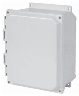 HAM-MFG PJU201610F N4X SOLID DOOR SCREW COVER W/FLANGE - 20-IN X 16-IN X 10-IN - FIBERGLASS