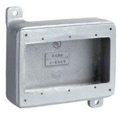 KILLARK 3FS DEVICE BOX 3-GANG SHALLOW ALUMINUM