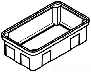 QUAZ PG1730EA08 17-INCH X 30-INCH PG-STACKABLE EXTENSION WITH OPEN BOTTOM 8-INCH LOAD RATED-22 500 / 33 750-POUNDS