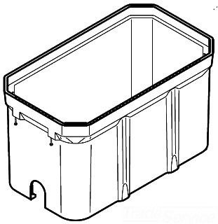 QUAZ PG3060BA36 30-INCH X 60-INCH PG-STACKABLE BOX WITH OPEN BOTTOM 36-INCH LOAD RATED-22 500 / 33 750-POUNDS