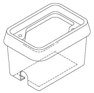 QUAZ B13101512A BOX, W/OPEN BOTTOM 12