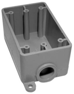 IPEX 078229 FSE05 1/2-INCH PVC FSE SINGLE GANG BOX KRALOY