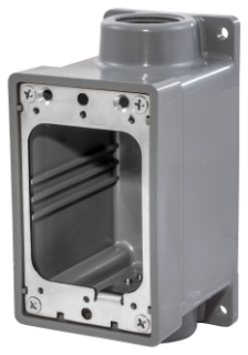 HUBBELL HBL6083 WATERTIGHT FD BOX, 3/4-IN, GRAY
