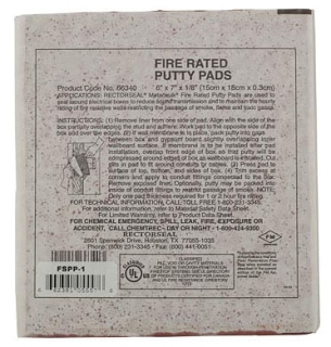 Fire Stop Putty Pad