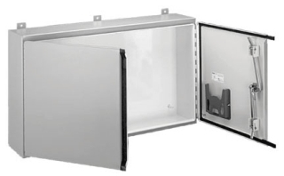 HOFFMN A244208WFLP 24.00 X 42.00 X 8.00 2-DOOR WALL-MOUNTING TYPE12 ENCLOSURE STEEL/PAINT