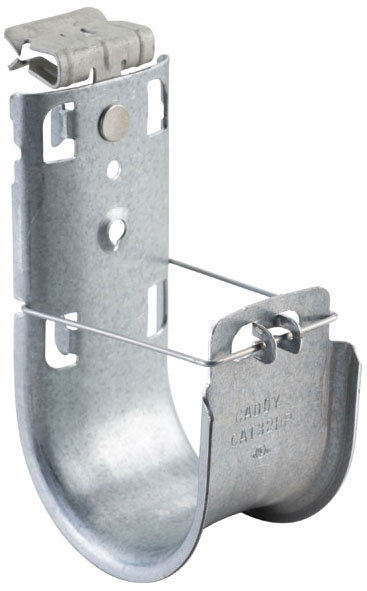 ERICO CAT32HP58SM NVENT CADDY CAT HP J-HOOK WITH HAMMER-ON FLANGE CLIP, 2IN DIA, 5/16IN 1/2IN FLANGE