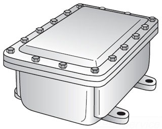 GED YE181208 CAST IRON JUNCTION BOX