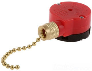 HUBBELL RL122 6A 125V PULL CHAIN SWITCH