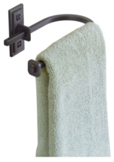 HUF 840008-07 DARK SMOKE HAND TOWEL OR BATHROOM TISSUE HOLDER