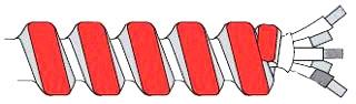 MC142FABKRD  RI 14/2 MC FIRE ALARM BLACK RED 250FT AFC PRODUCT# 1834R42-06