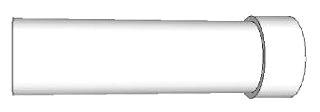 """PVC20020FT PVC 2"""" SCHEDULE-40 20FT"""