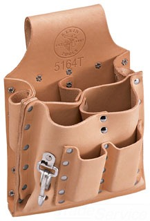 Tool Pouch, Leather, 8-Pockets, Knife Snap, Tunnel
