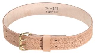"Heavy-Duty Embossed Leather MD Tool Belt, 2"" Wide, Size"