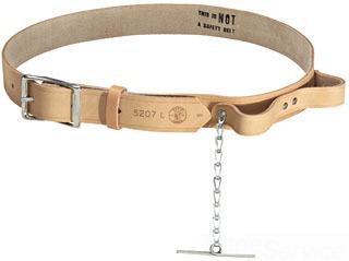 "Tool Belt, Leather , 1-1/2"" x 38""-46"" waist, Tape Thong"