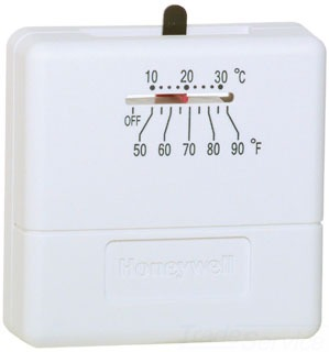 HEAT ONLY THERMOSTAT. NO SWITCHES. ELECTRICAL