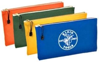 "4-Pack Zipper Bags, Canvas, Assorted Colors, 12-1/2"" X 7"""