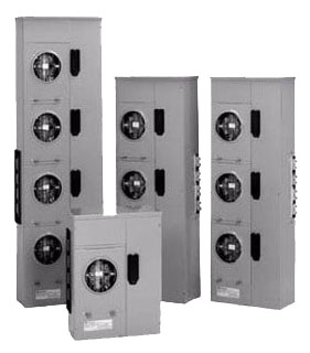 COMMERCIAL METER STACK, SINGLE PHASE, 1 SOCKET, 225A