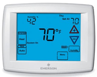 Blue Touchscreen Multi-Stage Or Heat-Pump Thermostat