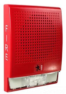 Speaker, Wall Mt., 70V RMS, 24VDC, Red