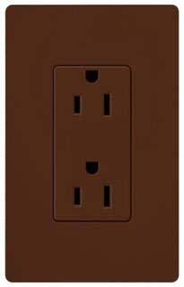 SATIN COLOR 15 AMP RECEPTACLE