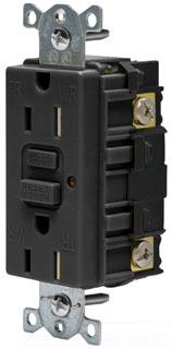 15A 125V COMM LED TAMPER-RES GFCI, BK