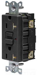20A 125V COMM LED TAMPER-RES GFCI, BK