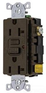 20A 125V COMM LED GFCI, BR