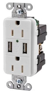 USB CHG 2 PORT T/R 15 DEC REC