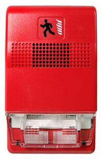 Strobe, Wall Mt., 15-110 CD, 24VDC, Red