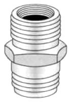 "AKW 2140 3/4"" MHT X 3/4"" MPT W/ 1/2"" FPT BRASS HOSE ADAPTER (698023)"