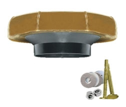 """FLUIDMASTER 7511 3"""" & 4"""" WASTE LINES WAX RING KIT HORN WAX KIT W/FLANGE AND BOLTS (BX-24)"""