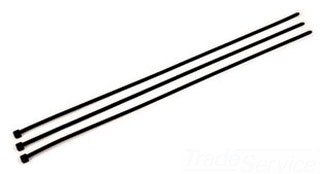 "06204 3M CABLE TIE- 15"" STANDARD WEATHER RESISTANT BLACK 50LB TENSILE 100 PER BAG"