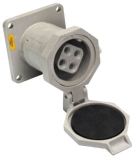 NR1042 CROUSE HINDS 100A 600V 3W4P ARKTITE NONMETALLIC PIN AND SLEEVE RECEPTACLE